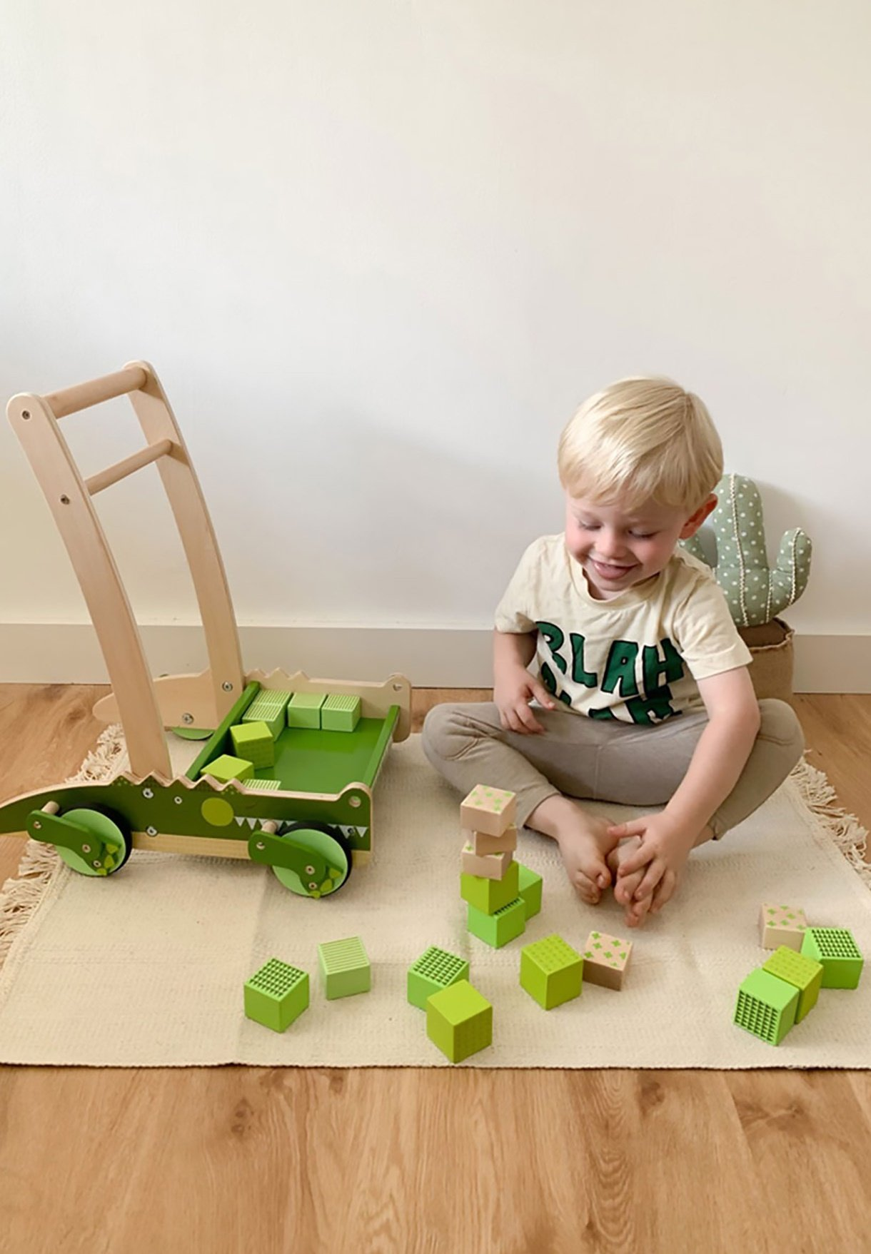 Kinder KROKODIL - Lauflernwagen
