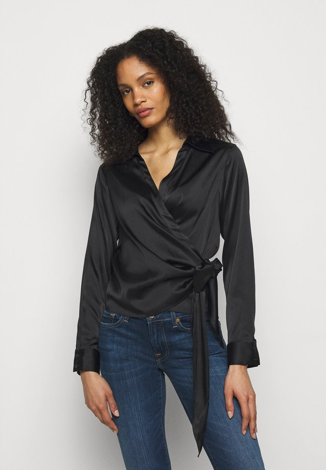 WRAP BLOUSE - Blus - black