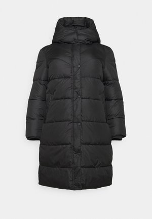 LONG JACKET - Winter coat - deep black