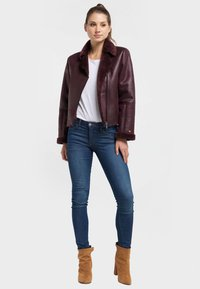Petrol Industries - Faux leather jacket - zinfandel - 1