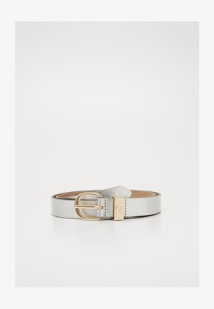 OVAL BUCKLE BELT - Riem - silver