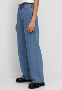Marc O'Polo DENIM - TOMMA - Straight leg jeans - multi/dark blue salt 'n pepper - 3