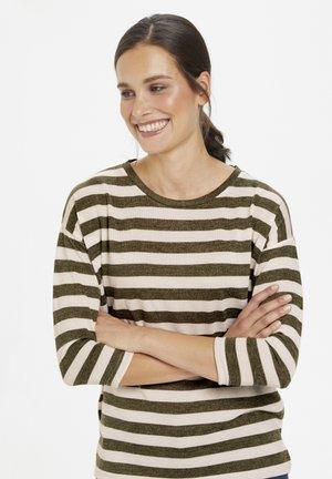 KABEATE - Long sleeved top - grape leaf / tapioca stripe