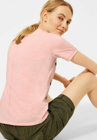 Cecil - Print T-shirt - rosa - 0
