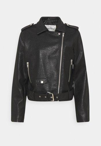 JACKER RAVEN - Faux leather jacket - black