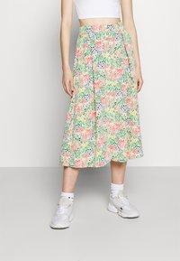 Monki - SIGRID BUTTON SKIRT - A-line skirt - multicolor - 0