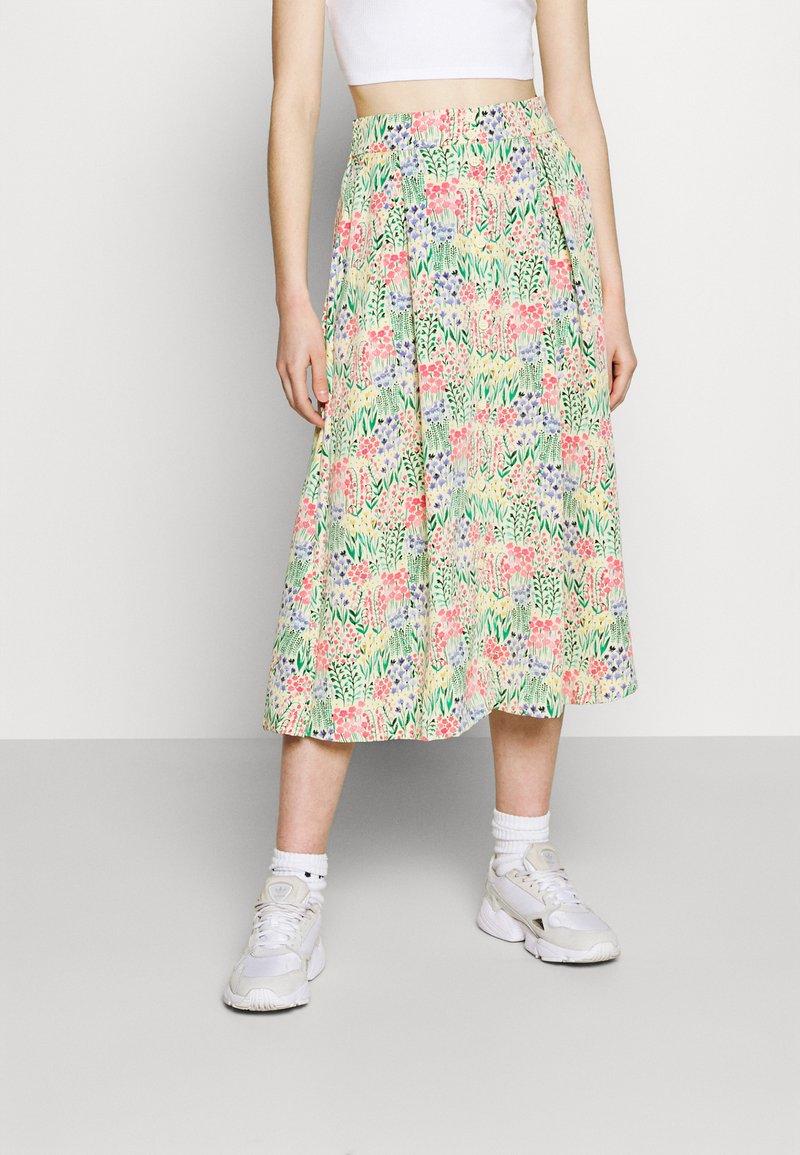 Monki - SIGRID BUTTON SKIRT - A-line skirt - multicolor