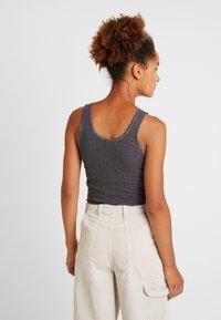 BDG Urban Outfitters - PRINT POINTELLE TANK - Top - dark grey - 2