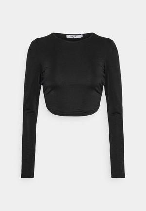 OPEN BACK TIE  - Long sleeved top - black