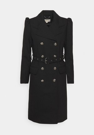 PUFF SLEEVE COAT - Trenchcoat - black