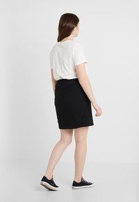 Zizzi - JELENA KNEE SKIRT - Mini skirt - black - 2