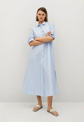FACTORY - Shirt dress - blå