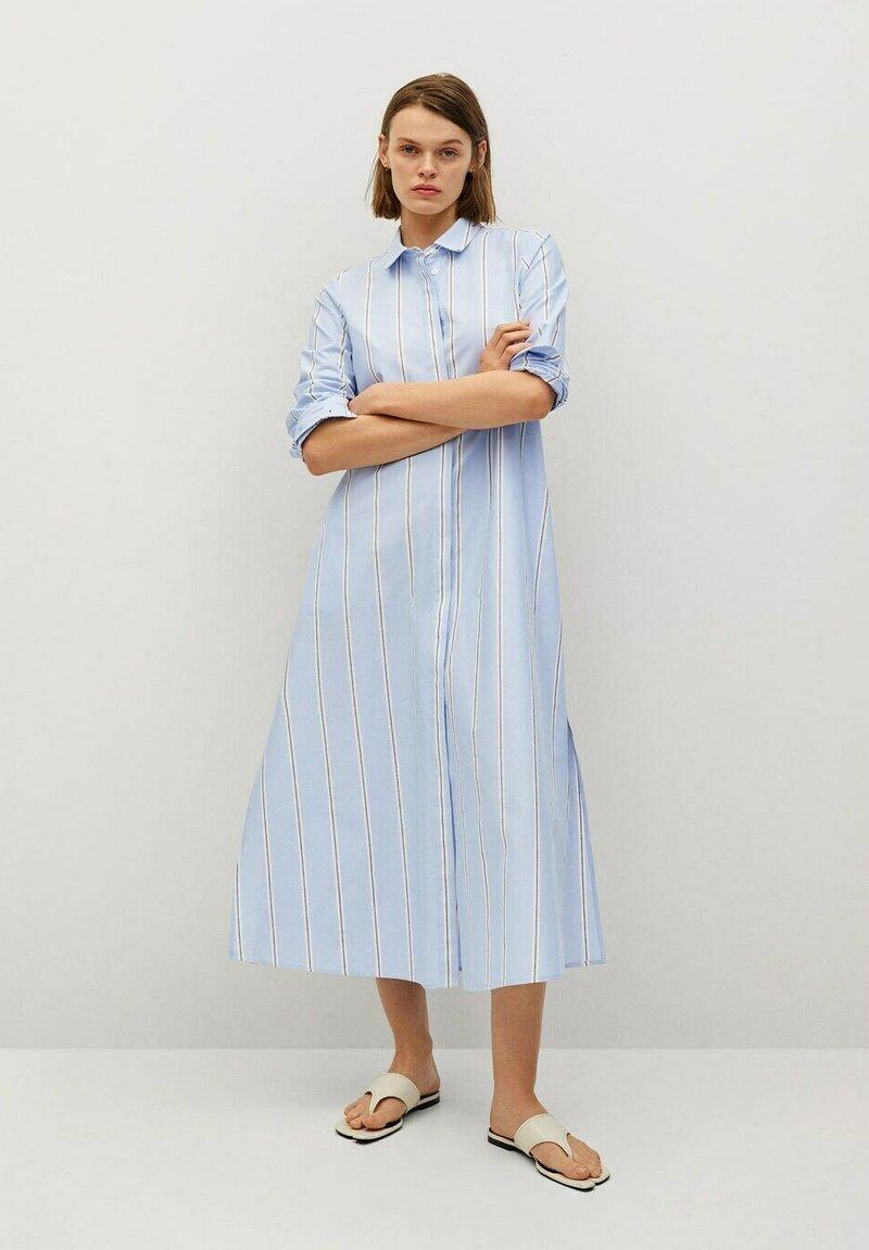 Mango - FACTORY - Shirt dress - blå