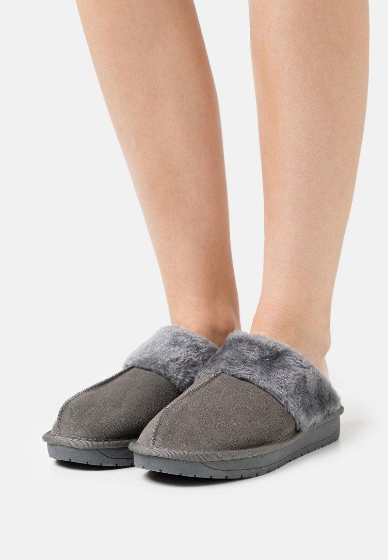 Simply Be - WIDE FIT AUBREE - Slippers - grey