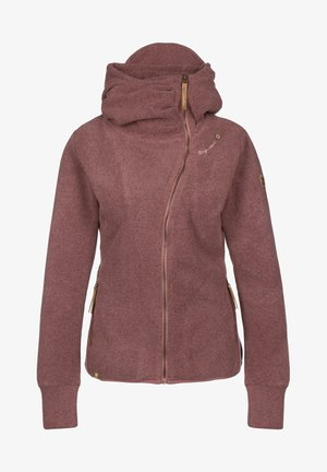 Zip-up hoodie - wine red