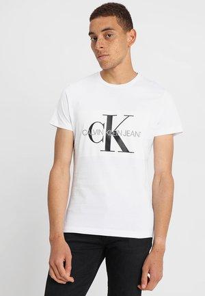 CORE MONOGRAM BOX LOGO SLIM TEE - T-shirt print - bright white