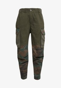 Diesel - THENA TROUSERS - Trousers - olive - 4