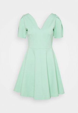PLEATED SLEEVE SKATER DRESS - Sukienka z dżerseju - mint