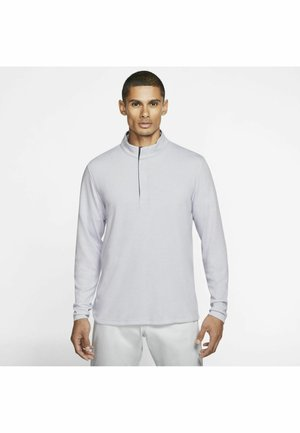 Long sleeved top - sky grey/gridiron/black