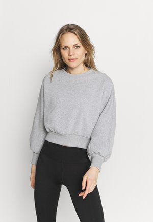 BALLOON SLEEVE CROPPED - Sweatshirt - light grey