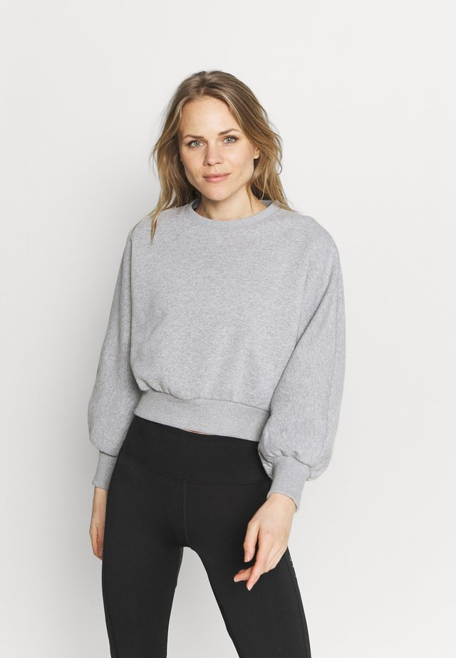 BALLOON SLEEVE CROPPED - Sweater - light grey