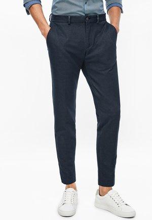 Trousers - dark blue melange
