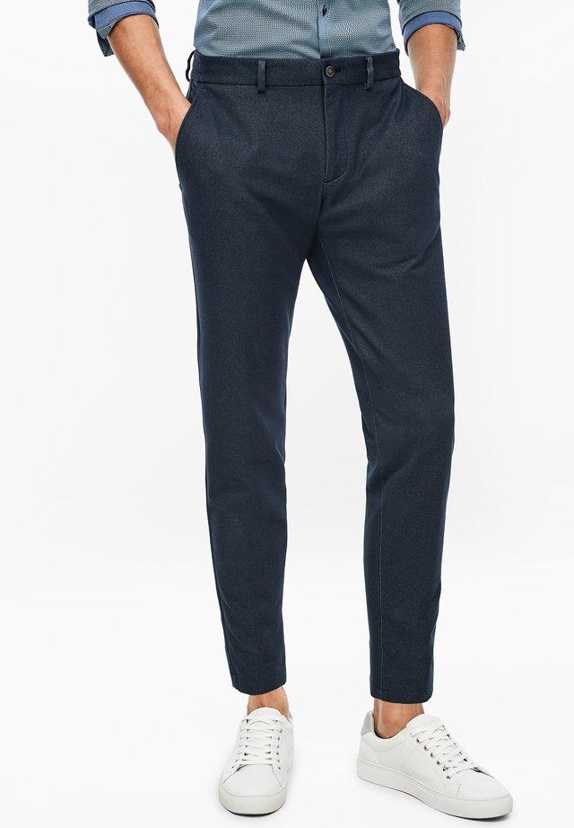 Pantalon classique - dark blue melange