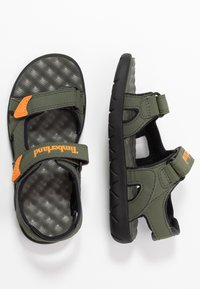 Timberland - PERKINS ROW 2 STRAP - Sandals - dark green - 0