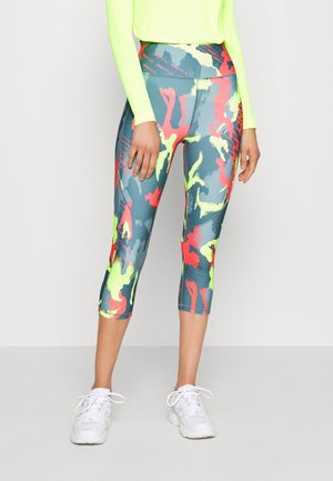 ONPALECXIA LIFE TIGHT - Leggings - Trousers - goblin blue/safety yellow