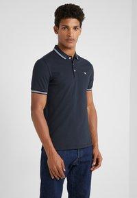 Emporio Armani - Polo shirt - blu scuro - 0