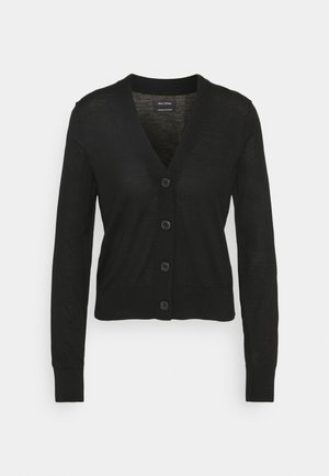 CARDIGAN LONGSLEEVE NECK - Vest - black