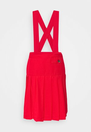 PLEATED SCHOOL SKIRT - Gonna a pieghe - red