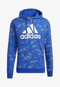 adidas Performance - ESSENTIALS ALLOVER PRINT HOODIE - Hoodie - blue - 8