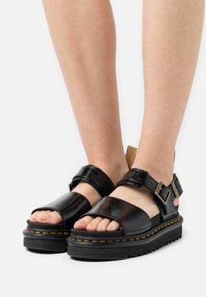 VEGAN VOSS - Platform sandals - black