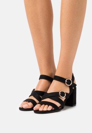 WIDE FIT VAMP - Sandals - black