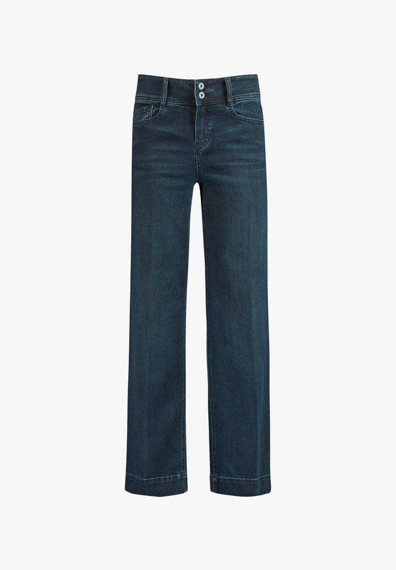 Taifun - HOSE  LANG WEITE  WIDE LEG TS - Flared Jeans - dark blue