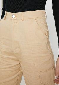 Missguided Tall - PLAIN CARGO TROUSER - Pantaloni - sand - 5