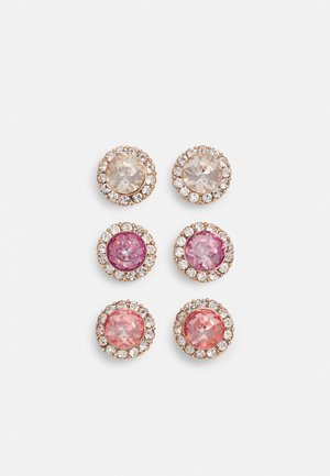GWOSA 3 PACK - Earrings - light purple/blush/golden shadow/gold-coloured
