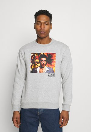 SCARFACE PALM PHOTO CREW - Sweatshirt - mottled grey