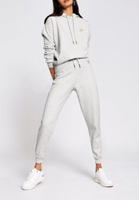 River Island - MARL SEAM DETAIL  - Tracksuit bottoms - grey - 1
