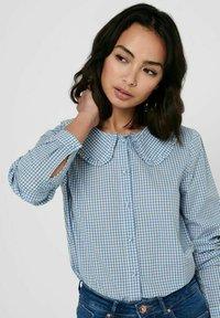 JDY - Button-down blouse - coronet blue - 3