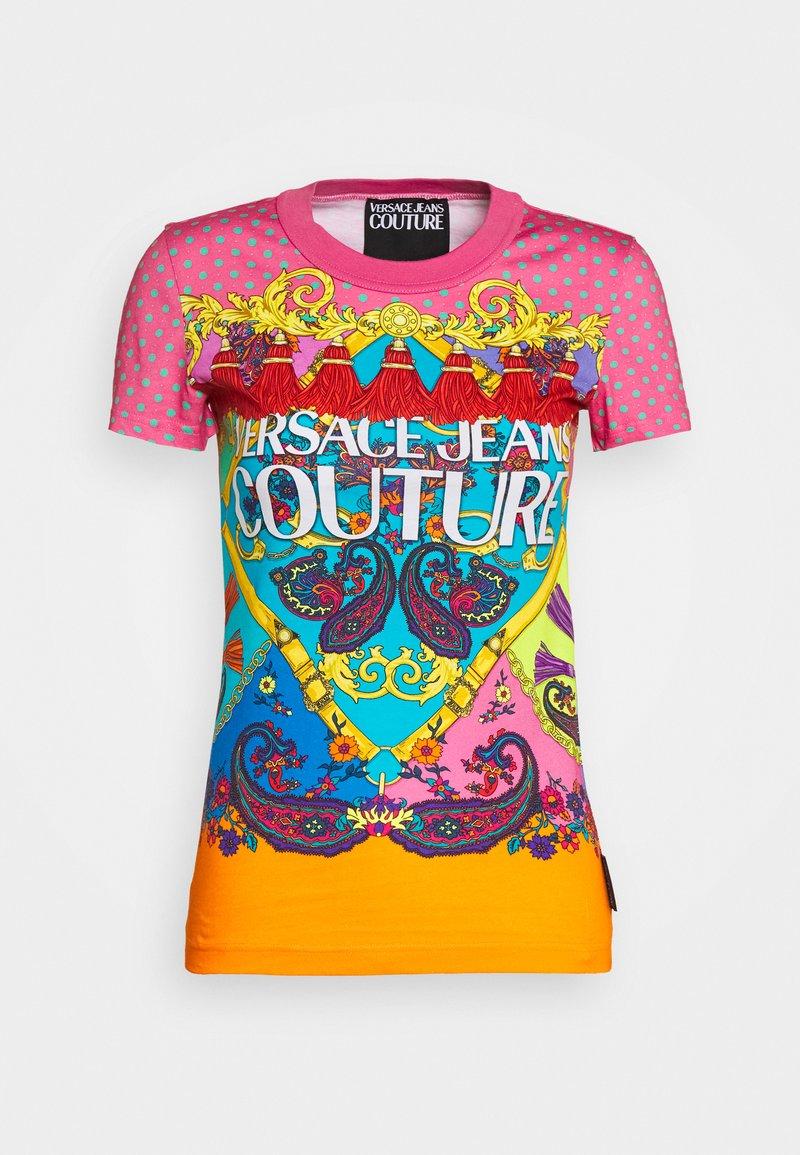 Versace Jeans Couture - T-shirt z nadrukiem - rose wild orchid