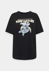 Mavi - KEEP NATURE PRINTED TEE - T-shirts med print - phantom - 0