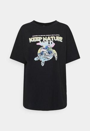 KEEP NATURE PRINTED TEE - T-shirt z nadrukiem - phantom