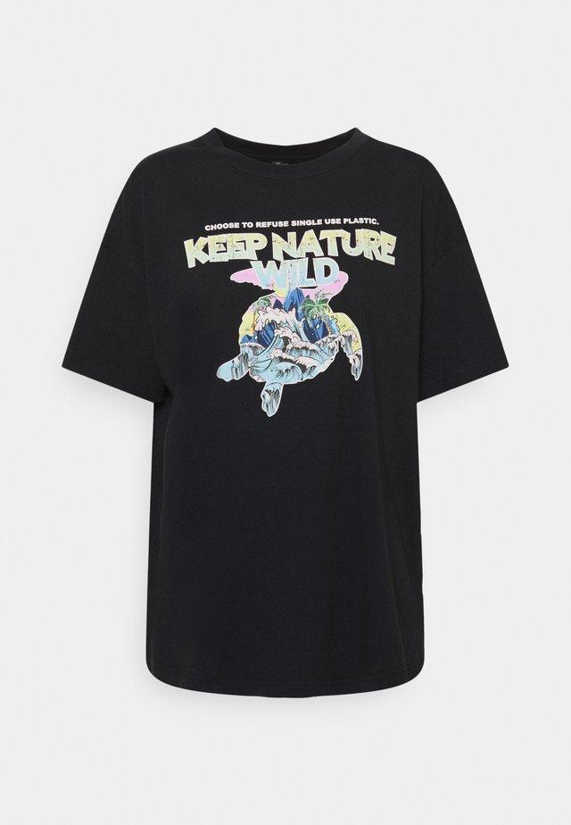 KEEP NATURE PRINTED TEE - T-shirt print - phantom