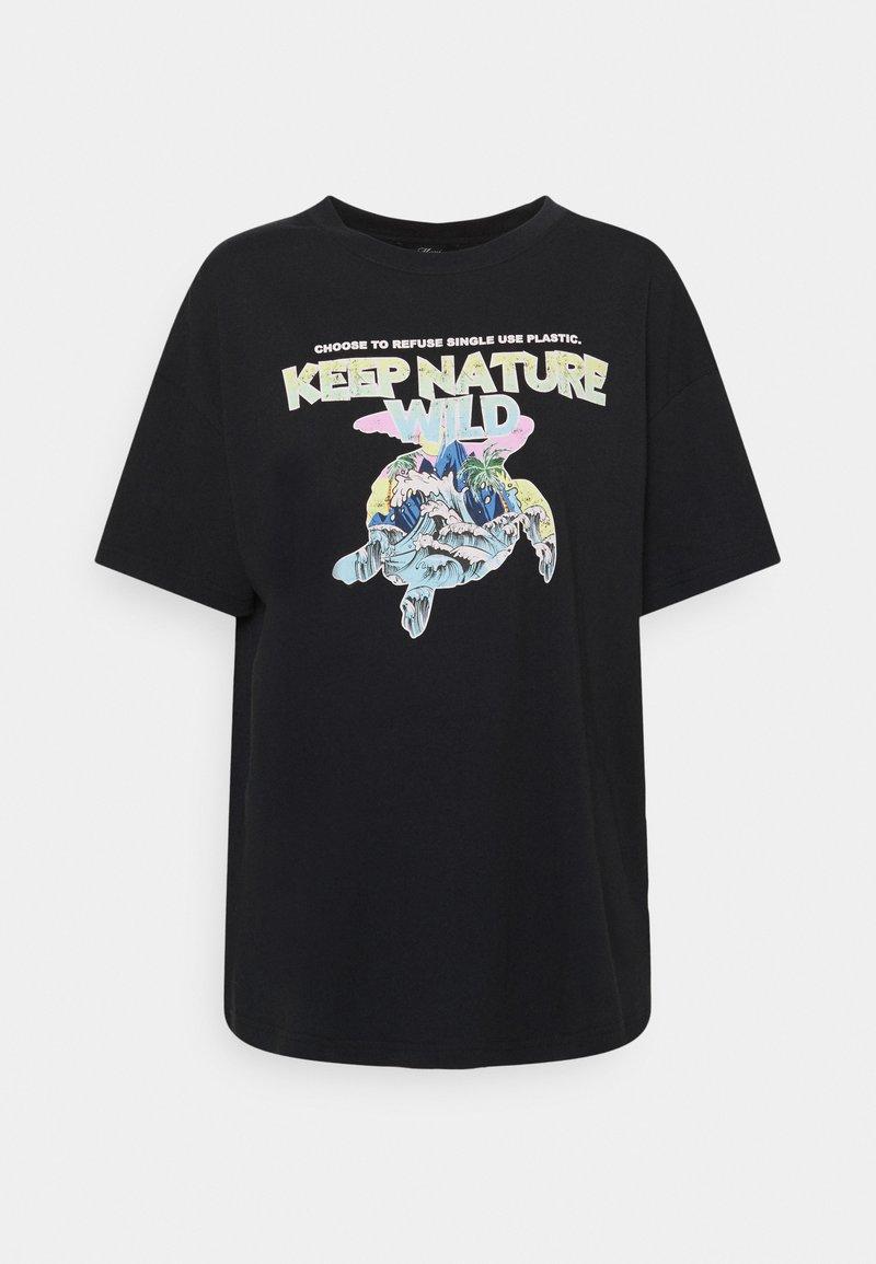 Mavi - KEEP NATURE PRINTED TEE - T-shirts med print - phantom