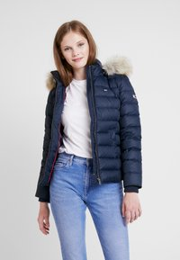 Tommy Jeans - ESSENTIAL HOODED JACKET - Down jacket - black iris - 0