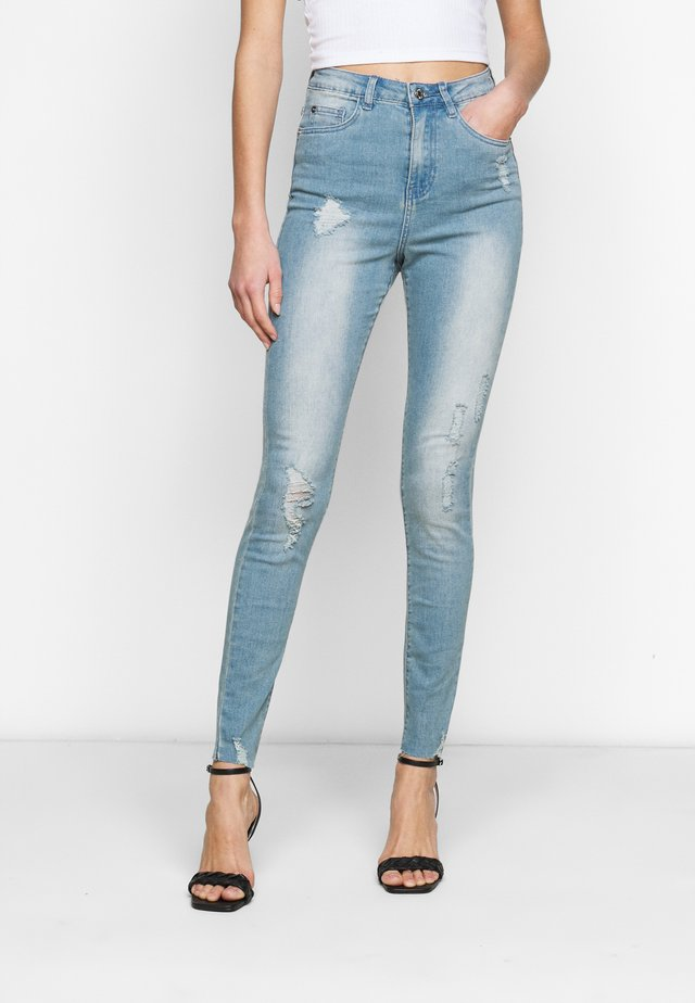SINNER HIGHWAISTED DESTROYED - Jeans Skinny Fit - light blue