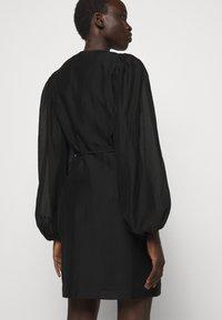DESIGNERS REMIX - SONIA WRAP DRESS - Day dress - black - 3