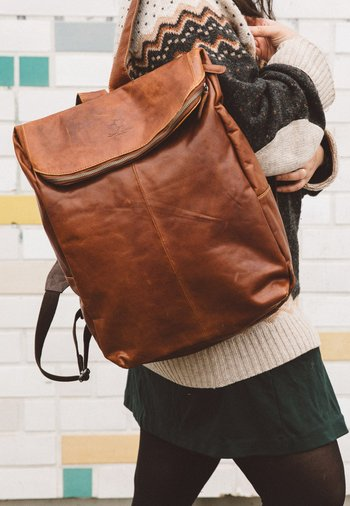 Rucksack - honey brown